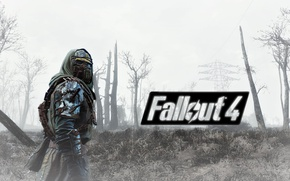 Картинка игра, games, Fallout 4, броня с шипами и противогазом, фаллаут 4, открытый мир, open world, ...