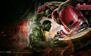 Картинка hulk, iron man, Мстители, Альтрона, Эра