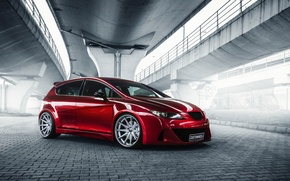Обои tuning, red, Seat Leon, car