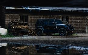 Картинка car, black, jeep, wrangler, unlimited, внедорожние