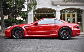 Картинка Mercedes, Red, AMG, Black Series, SL65