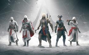 Картинка оружие, assassins creed, анимус, клинок, эцио, альтаир, убийца, коннор, ubisoft