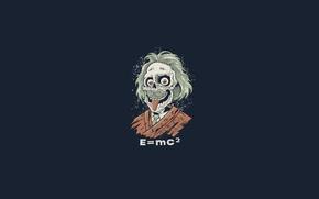 Картинка зомби, e=mc2, эйнштейн, мертвяк