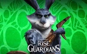 Обои мультфильм, Пасха, персонаж, DreamWorks, Кролик, Пасхальный Кролик, Rise of the guardians, бумеранг, Хранители снов, хранитель