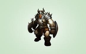 Картинка доспехи, воин, рога, борода, щит, викинг, VIKING