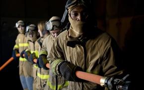 Картинка helmets, hoses, fire protective clothing