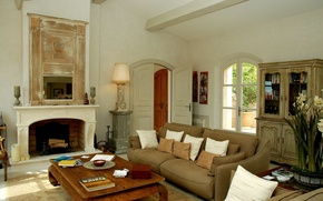 Картинка дизайн, дом, стиль, вилла, интерьер, France, гостиная, жилая комната, luxury villa, St.Tropez, Cote d'Azur