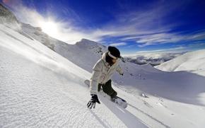 Картинка свобода, горы, сноуборд, адреналин