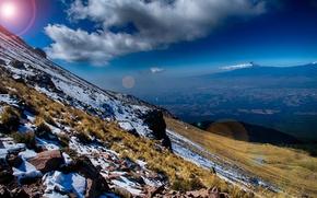Картинка снег, горы, склон