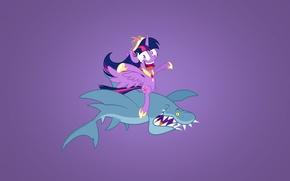 Обои минимализм, акула, shark, Мой маленький пони: Дружба – это чудо, My Little Pony: Friendship Is ...