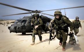 Картинка пустыня, армия, израиль, высадка