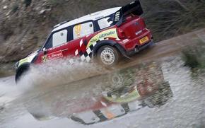 Картинка rally, mini, water, wrc, Dani Sordo