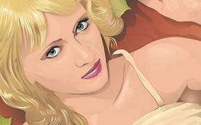 Картинка взгляд, девушка, Вектор