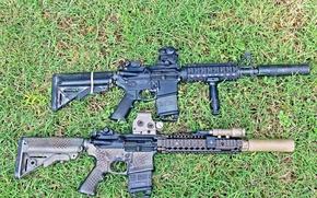 Обои оружие, AR-15, винтовки, штурмовые