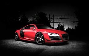 Обои Audi, ауди, тюнинг, спорткар, автомобиль, красная, autowalls