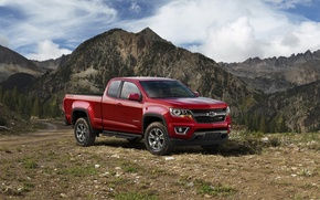 Обои 2015, chevrolet, colorado, z71, trail boss, extended cab