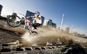 Картинка обои, спорт, мотоцикл, 2012, KTM, freeride