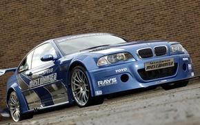 Обои Дорога, BMW, Стена, Need For Speed Most Wanted