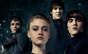Картинка Girl, Red, Fantasy, 2010, Darkness, Eclipse, Rain, The, Wallpaper, Eyes, Twilight, Dakota Fanning, Jane, Year, ...