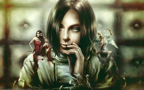 Картинка девушка, ангел, дьявол, Christian Suhr