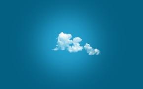 Обои облако, белый, цвет, Небо, голубой