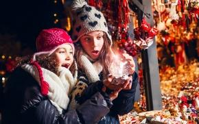 Обои праздник, волшебство, девочки