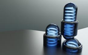 Обои минимализм, капсула, Спираль