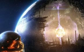 Картинка энергия, космос, фантастика, space, Planet