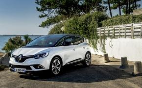 Картинка Белый, Renault, Hybrid, Scenic, 2016, Металлик, Assist