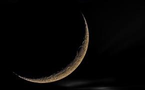 Картинка ночь, луна, спутник, Moon