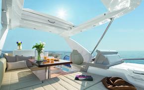 Картинка дизайн, стиль, интерьер, яхта, палуба, люкс, кокпит
