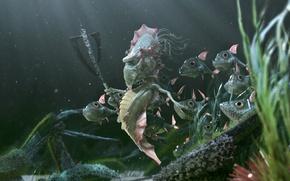 Картинка рыбки, царь, топор, морской, конёк