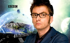 Картинка взгляд, космос, звезды, пространство, фантастика, планета, очки, костюм, актер, мужчина, Doctor Who, Доктор Кто, BBC, ...