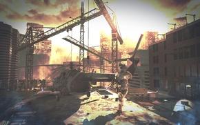 Картинка война, вертолет, Фон, Call of Duty, modern warfare, MW2, highrise, cod mw2, мв2, COD6