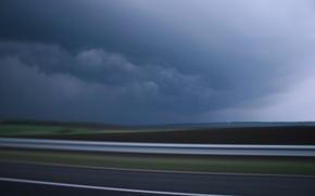Картинка road, sky, Storm, clouds
