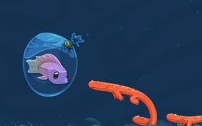Обои рыбы, вектор, Пакет
