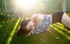 Обои поза, Yana, девушка, солнечный свет