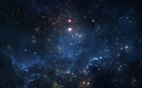Картинка свечение, звёзды, туманности