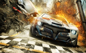 Обои CG Wallpapers, Гонки, Split-Second, Racing, Взрывы, Тачка, Black Rock Studio