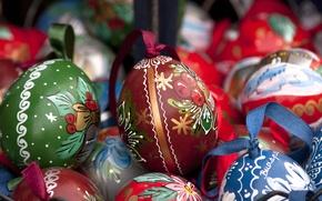 Картинка праздник, яйца, пасха, декор, крашенки