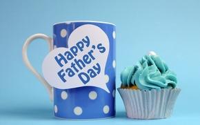 Картинка кружка, кекс, Happy Father's Day