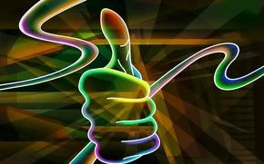 Картинка абстракция, рука, большой, палец