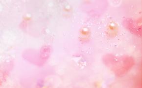 Картинка pink, hearts, Pearl