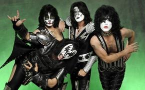 Картинка макияж, хиппи, рок-группа, Kiss