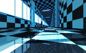 Картинка отражение, коридор, monogatari series