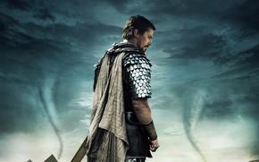 Картинка Cataclysms, Exodus: Gods and Kings, Servant of God, Cloudy, Ridley Scott, Drama, Disasters, Sword, Exodus, …