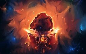 Картинка девушка, магия, крылья