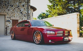 Картинка red, dodge, charger, srt8