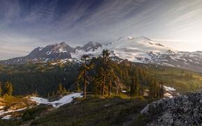 Картинка Light, Morning, Mount Baker