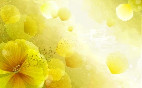 Обои цветок, лепестки, свет, вектор, природа